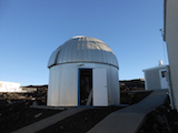 [Existing Ash-Dome for Pathfinder system on Mauna Loa, Hawaii Island. Image credit: ATLAS.ifa.]