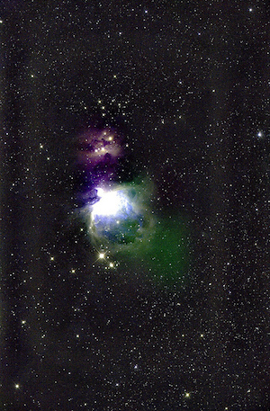 [Orion Nebula: First light image with the Pathfinder telescope, 2013 December 23. Image credit: ATLAS.ifa.]